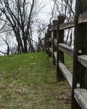 Het leunen Fencepost Royalty-vrije Stock Foto