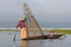 Het Leven 2 van het Meer van Inle Stock Foto's