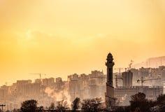 Het leven atmosfeer in Iraanse stad stock fotografie
