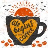 Het leven begint na koffie Royalty-vrije Stock Foto