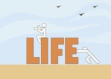 Het leven in beweging Stock Foto's