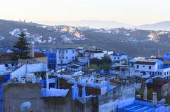 Het leven in Chefchaouen Medina in Marokko stock fotografie