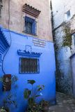 Het leven in Chefchaouen Medina in Marokko royalty-vrije stock foto's