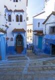 Het leven in Chefchaouen Medina in Marokko stock afbeelding