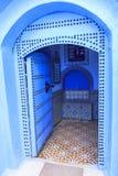 Het leven in Chefchaouen Medina in Marokko stock afbeeldingen