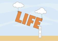 Het leven in de Hemel Vector Illustratie