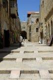 Het leven in de Oude Stad Jeruzalem Israël Stock Afbeelding