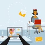 Het leven in de sociale netwerken royalty-vrije illustratie