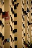 Het leven in de vlakten van Singapore HDB Stock Fotografie