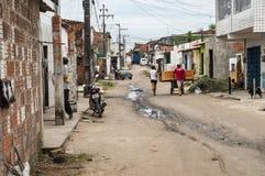 Het leven in een buurtarmen in de voorsteden en veronachtzaamd royalty-vrije stock afbeeldingen