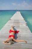 Het leven is een Strand (Pier) royalty-vrije stock foto's