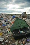 Het leven en het werken in een stortplaats Stock Fotografie