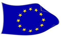 Het leven Europese Unie vlag Stock Afbeeldingen