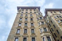 Het leven flatgebouwen met koopflats in Montreal Royalty-vrije Stock Foto