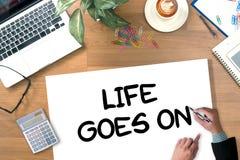 Het leven gaat, gaat het Leven, het Goede Positieve Goede Leven Stock Fotografie