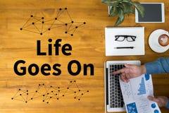 Het leven gaat, gaat het Leven, het Goede Positieve Goede Leven Royalty-vrije Stock Fotografie