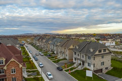 Het leven huizen in Canada Stock Afbeeldingen