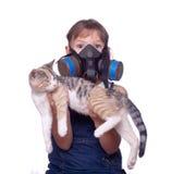 Het leven met huisdierenallergieën Stock Foto's