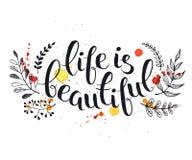 Het leven is mooi vector illustratie