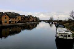 Het leven op de boot in Londen Stock Foto's