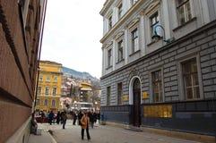 Het leven op de straat van Sarajevo, bosnia Royalty-vrije Stock Foto