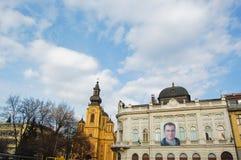 Het leven op de straat van Sarajevo, bosnia Stock Foto's
