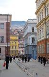 Het leven op de straat van Sarajevo, bosnia Royalty-vrije Stock Fotografie