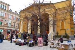 Het leven op de straat van Sarajevo, bosnia Royalty-vrije Stock Afbeeldingen