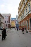 Het leven op de straat van Sarajevo, bosnia Stock Fotografie