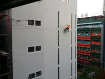 Het leven op een kabel Stock Foto