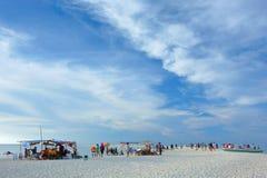 Het leven op het Strand stock fotografie