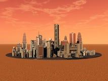 Het leven op Mars royalty-vrije illustratie