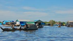 Het leven op Tonle-Sapmeer in Kambodja Royalty-vrije Stock Afbeelding