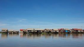 Het leven op Tonle-Sapmeer in Kambodja Royalty-vrije Stock Foto's