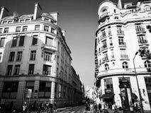 Het leven in Parijs, Frankrijk Foto in zwart-wit stock afbeelding