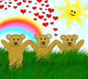 Het leven samen in harmonie! stock illustratie