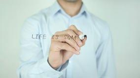 Het leven is Som al Uw Keuzen, Schrijvend op het Transparante Scherm