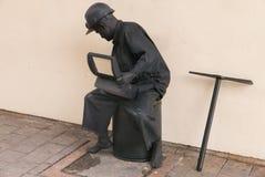 Het leven standbeeld die mijnwerker vertegenwoordigen royalty-vrije stock fotografie