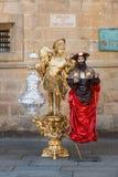 Het leven Standbeeld Santiago de Compostela Stock Afbeeldingen