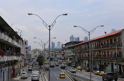 Het leven straat de Stad in van Panama, Panama, Juni 2015 royalty-vrije stock foto's