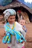 Het leven van de dorpsbewoner van Karen in armoededorp. stock fotografie