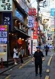 Het leven van de Gangnamstraat in Seoel Stock Fotografie