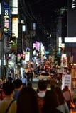 Het leven van de Gangnamstraat in Seoel Royalty-vrije Stock Foto