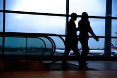 Het leven van de luchthaven Stock Foto's