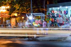 Het Leven van de nachtstraat in Mui Ne royalty-vrije stock afbeeldingen