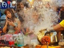 Het leven van de rookstraat Stock Afbeelding