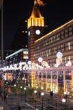 Het leven van de stad bij nacht Royalty-vrije Stock Foto's