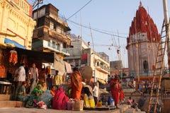 Het leven van de stad in India stock foto