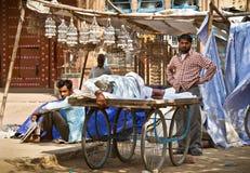Het leven van de straat in India Stock Foto