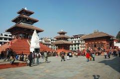 Het Leven van de straat in Katmandu, Vierkant Durbar Stock Foto's